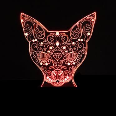 Luzes da Noite 7 colorido encantador do gato Tipo 3 : Bedroom Light