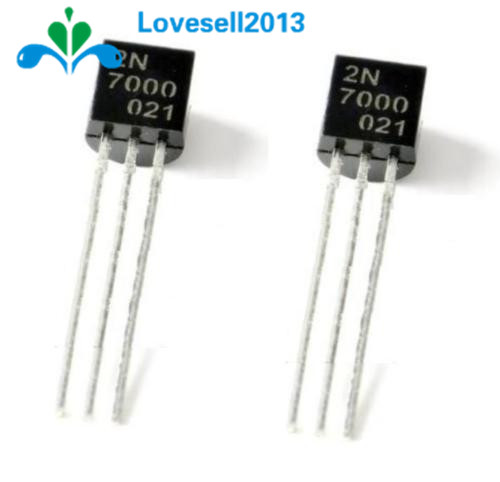 50PCS 2N7000 TO-92 MOSFET N-CHANNEL 60V 0.2A Transistor