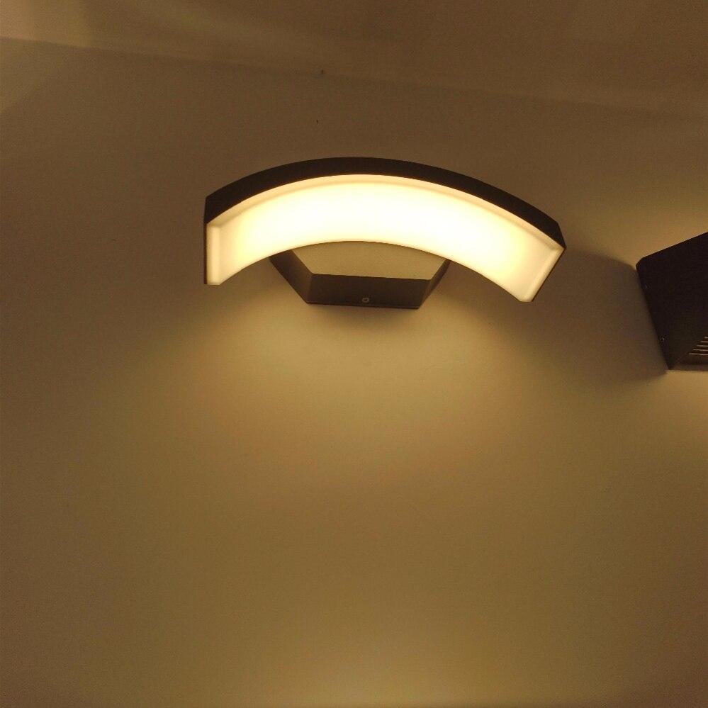24 W éclairage extérieur étanche moderne mur LED lampes IP65 en aluminium cour jardin couloir porche lumières AC85-265V