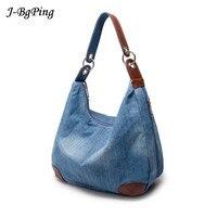 2017New Fashion Large Luxury Handbags Women Bag Designer Ladies Hand Bags Big Purses Jeans BagTote Denim