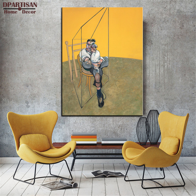 Us 18 99 Dpartisan Francis Bacon Three Studies Of Lucian Freud Wall Painting Print On Canvas For Home Decor Oil Painting Arts No Framed In Painting