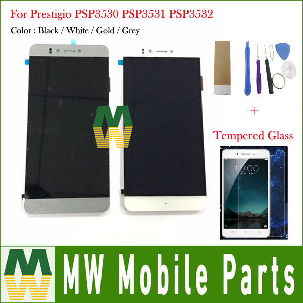 1PC/Lot For Prestigio Muze F3 PSP3531 DUO PSP 3531 Muze D3 PSP3530 PSP3532 Duo LCD Display with Touch Screen 4 Color with Kit