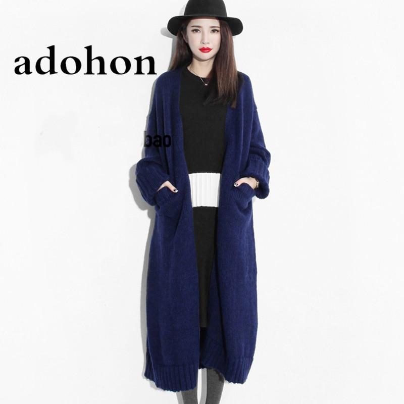 Adohon 2018 модные женские туфли Свитера Осень Sueter Femme зима трикотаж и вязаные кардиганы Cashmere шерсть трикотаж пальто Топ Дешевые