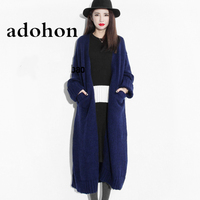 Adohon 2018 Fashion Women Sweaters Autumn Sueter Femme Winter Tricot Knitted Cashmere Cardigans Wool Knitwear Coat Top Cheap