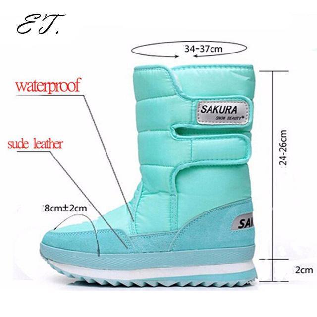 2016 Mulheres botas de neve de inverno Não-deslizamento senhora senhor Muffin botas unissex à prova d' água à prova de intempéries cor Lazer doces venda quente