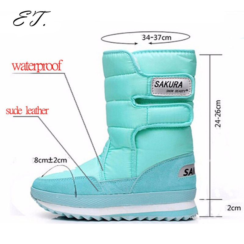 2016 Women snow boots winter Non slip weatherproof lady sir Muffin waterproof unisex boots Leisure candy