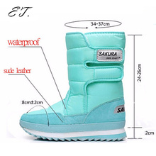 2016 Women snow boots winter Non-slip weatherproof lady sir Muffin waterproof unisex boots Leisure candy color hot sale