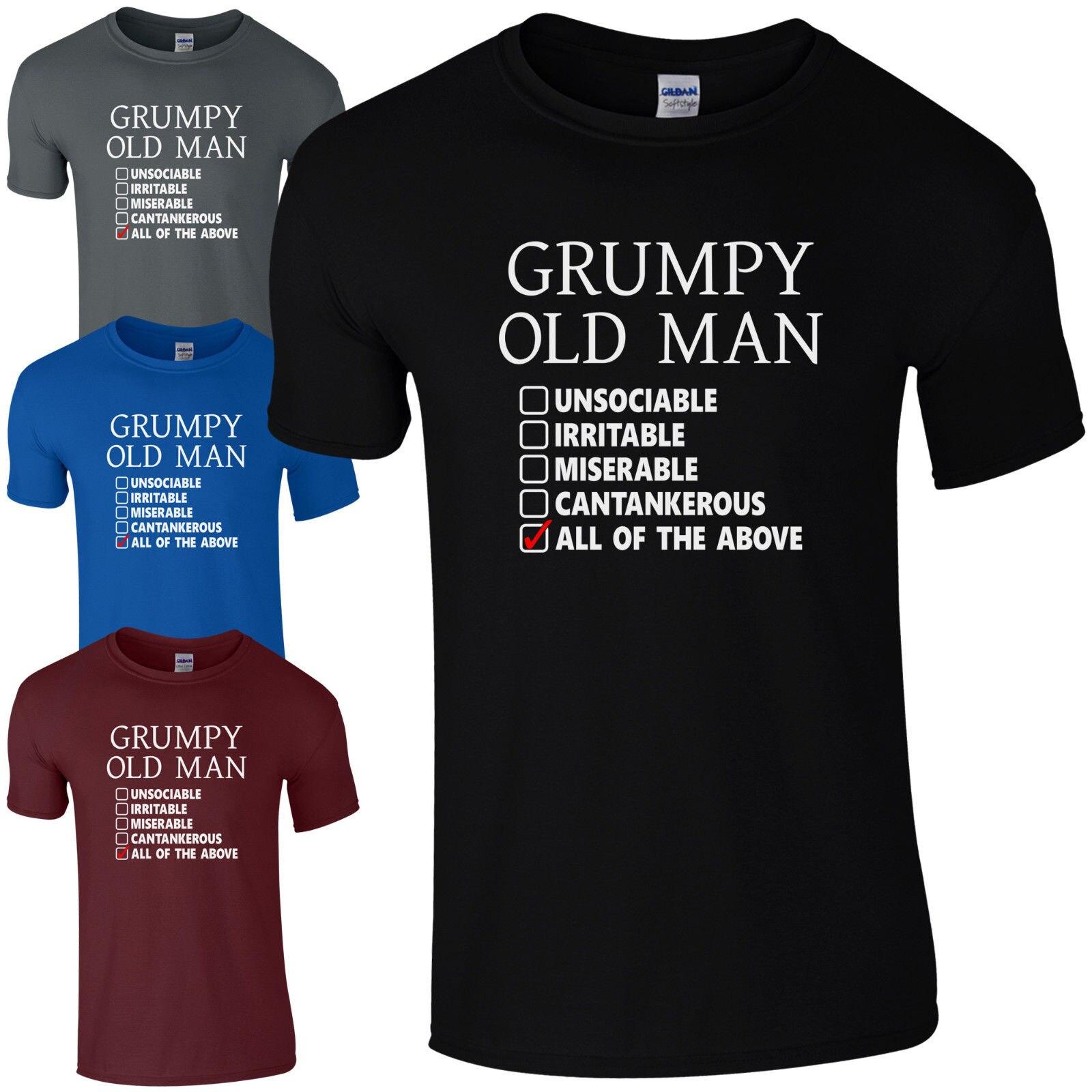 Grumpy Old Man Checklist T-Shirt - Funny Dad Grandad Fathers Day Joke Gift Top