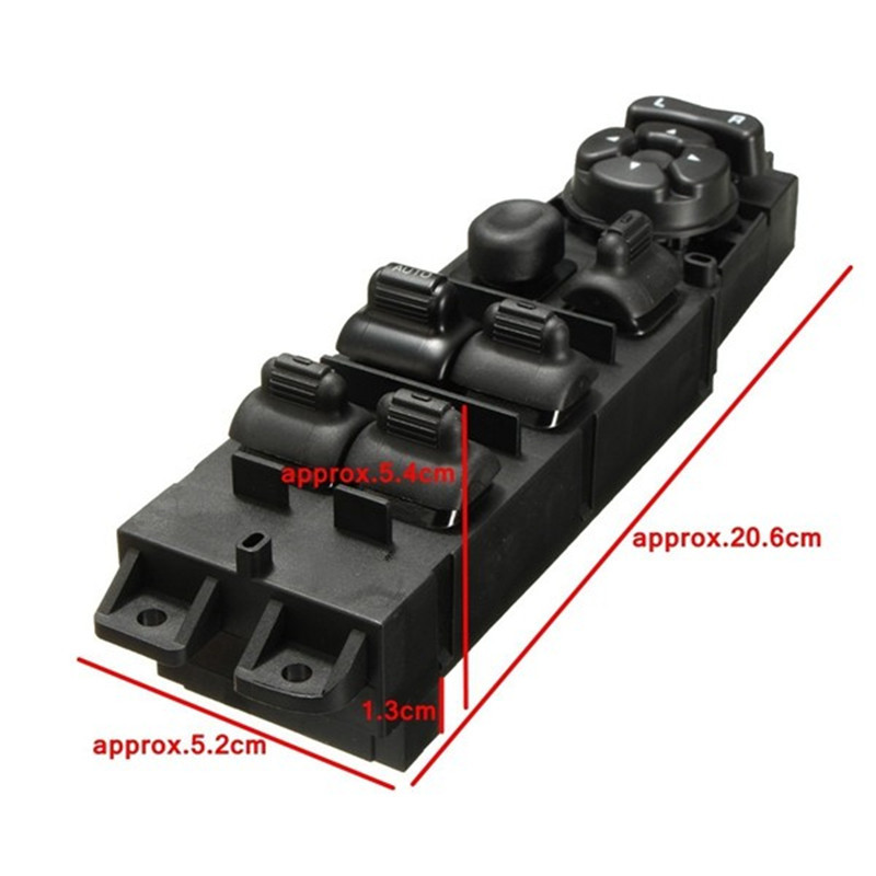 1 pc New Master Power Window Switch Driver Side Front LH Left w/Auto Down for Dodge Truck SA309 T10 yaopei new front left electric power window lifter master control switch for bmw 61319241916 6131 9241 916