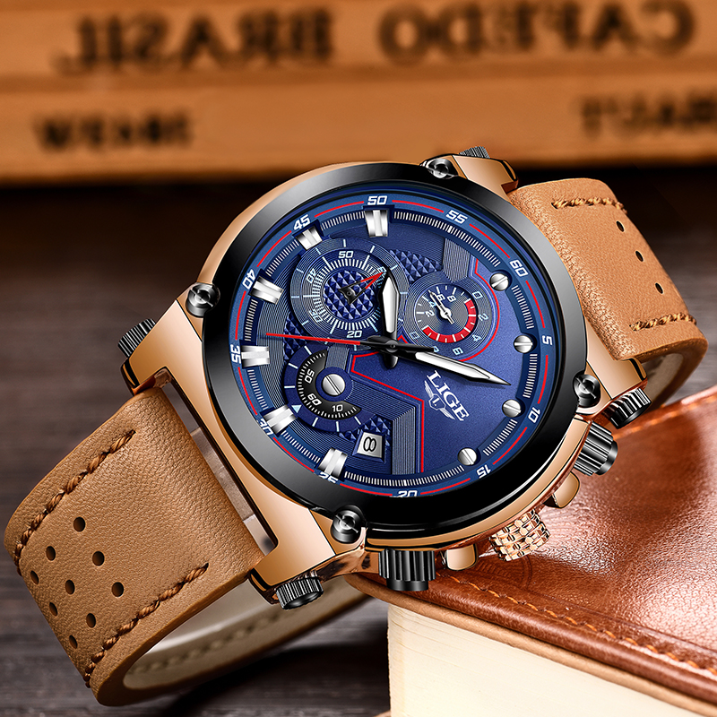 Herenhorloges LIGE Topmerken Luxe Heren Militair Sporthorloge - Herenhorloges - Foto 3
