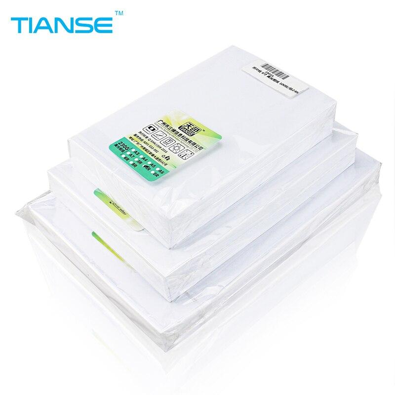 Papel fotográfico de alta brillante A4 A5 A6 5R 4R para la impresora de inyección de tinta de color luminoso superficie lisa diferentes tamaño 100 hojas/paquete fácil de imprimir