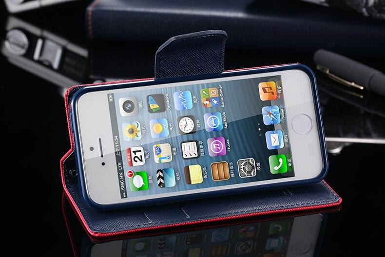 Podwójny kolor klapki skóra telefon torba case dla iphone 6 7 6 s plus 5 5S se gniazda kart + stojak kabura pokrowiec case dla iphone 7 6 6 s 52