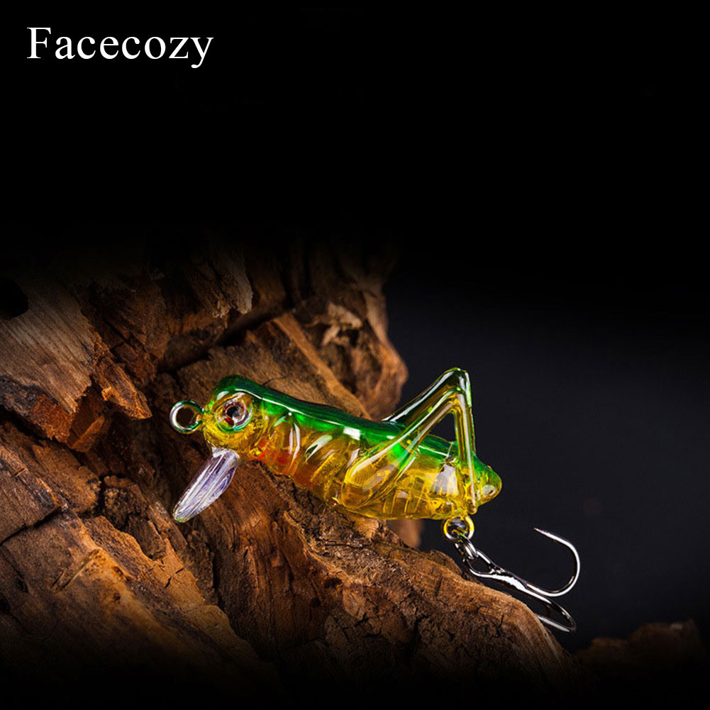 Facecozy Imitation Locust Artificial Bait Fishing Lures 1Pc Floating Type Swimbait Crankbait Suitable for Many Fingerlings-in Fishing Lures from Sports & Entertainment