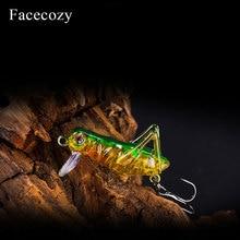 Facecozy Imitation criquet appâts artificiels leurres de pêche 1Pc flottant Type appâts nageurs manivelle adapté à de nombreux alevins