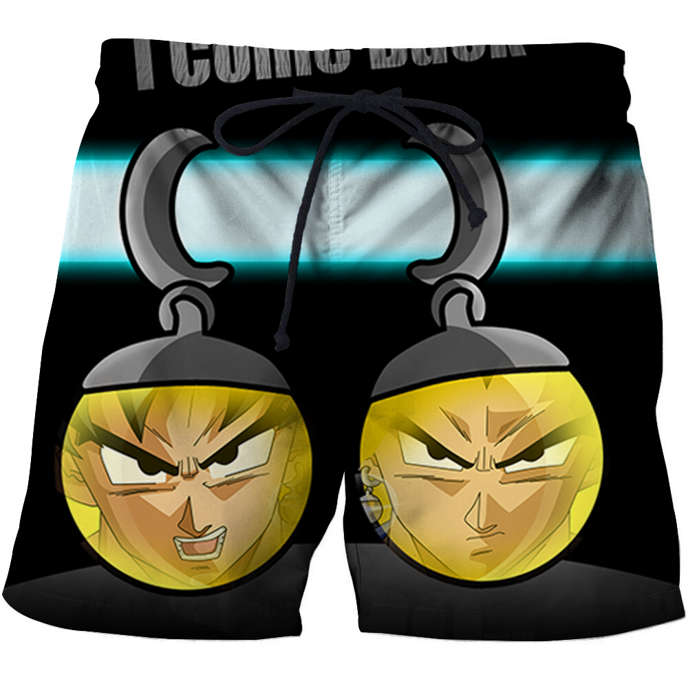 Summer Fashion Beach Shorts Elastic Men Women Board Pant Swimming Shorts Dragon Ball Z 3D Print Shorts Blue Mens Swim Short Pant