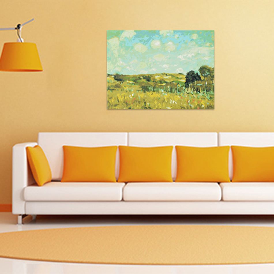 the impression of summer canvas painting DIY By Numbers oil Painting ...