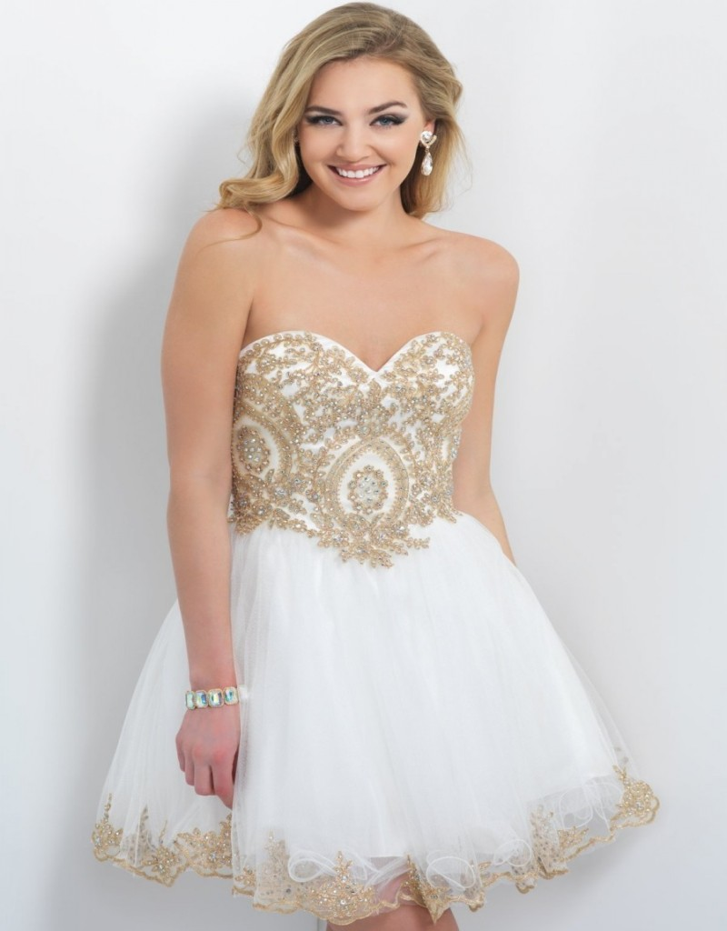 Popular White Gold Homecoming Dresses-Buy Cheap White Gold ...