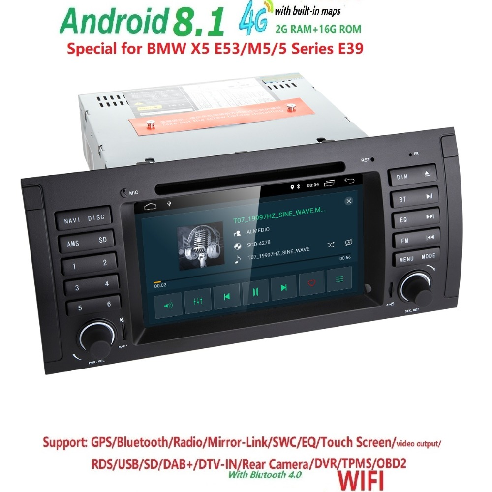 Free Shipping 1 Din Car DVD Player For BMW E53 X5 E39 DVD Car BMW Radio Navigation for E53 e39 x5 BMW 7inch Bluetooth RDS 2G RAM for bmw x5 e53 head lamp angel eyes1998 to 2003 year jy