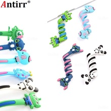 Cartoon Multipurpose Earphone Cable Winder phone Wire Cord Organizer protector Desktop PC Data line Collation Management clips