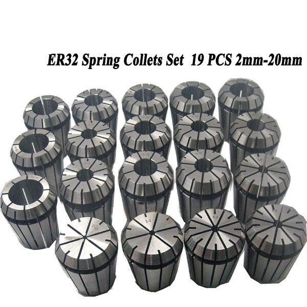 19PCS ER32 ER spring collet chuck Accuracy 2 20mm ER32 Collet For CNC milling tool holder