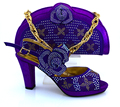 MM1008 African High Heels Matching Bag with purple color in Wedding 2017 Italian Shoes And Bag Set for Shipping size 38-43