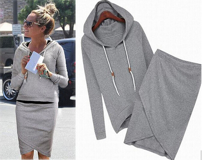 Women Baseball Jacket Casual Sweat Skirt Suits Sport Sweatshirt Shorts Tracksuits Animal Hoodies Dress Suit Fast Shipping