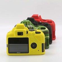Мягкий силиконовый чехол для камеры защитный чехол для Nikon D3500 резиновый чехол с отверстием для аккумулятора D3500 сумка для камеры