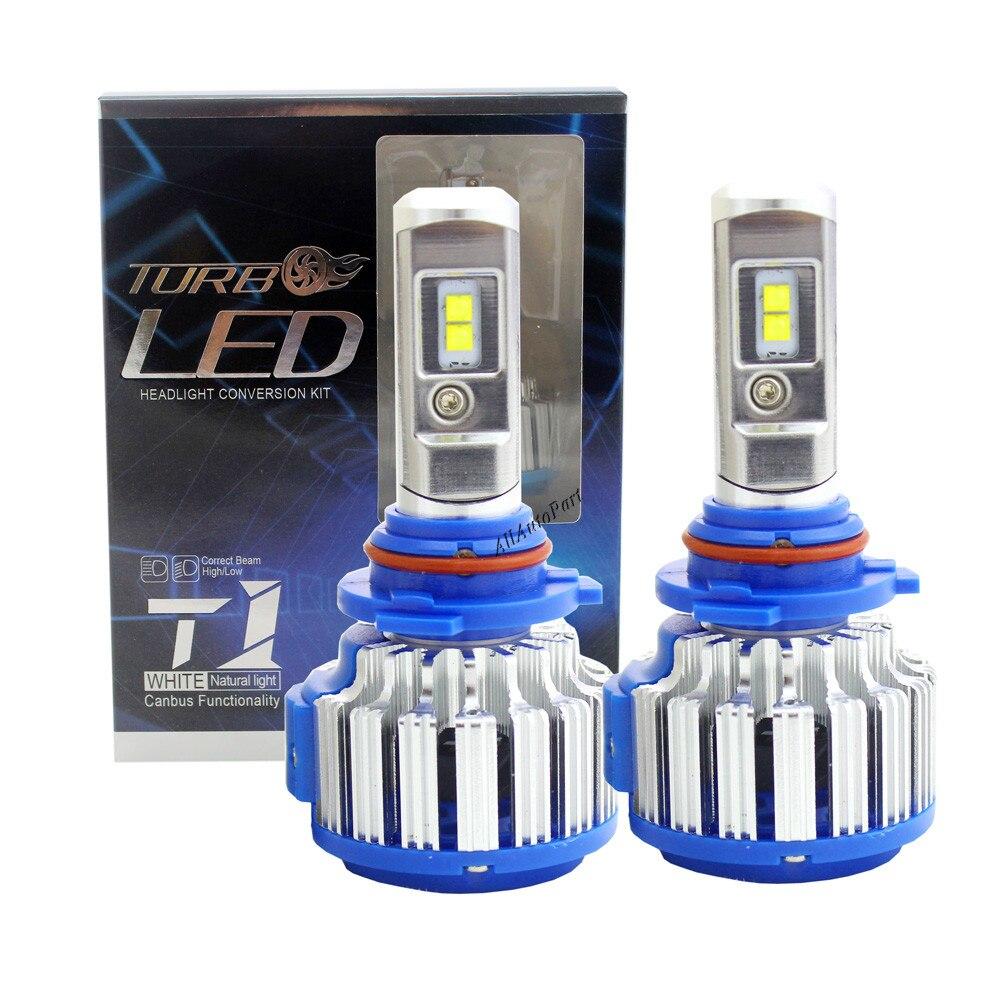 T1 Auto Headlight Bulb Sets 9006 Led Canbus lamp High Power 70W 7200lm Xenon White 6000K Super Bright Car Head Fog DRL Light Kit