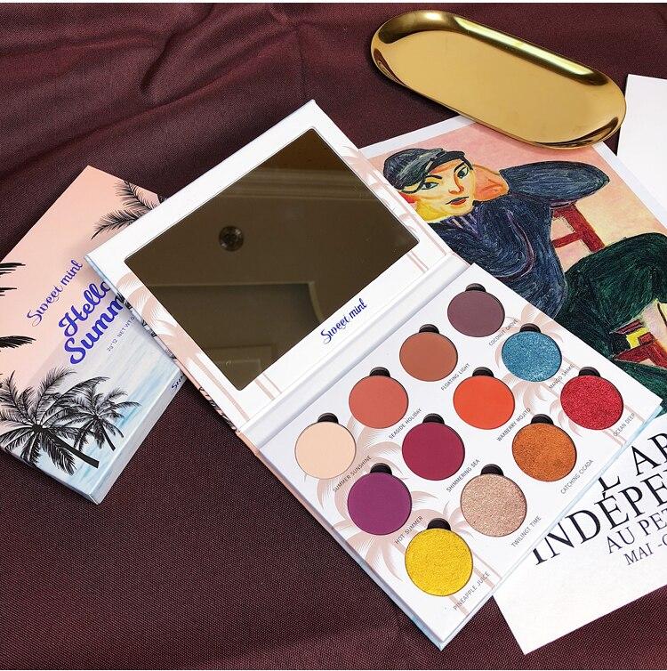 pigmento paleta paleta de paleta de pigmento quente cosméticos