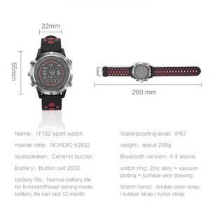Image 5 - Nashone montres pour hommes étanche montre intelligente passomètre rappel dappel multi fonction en acier inoxydable montre de sport horloge numérique