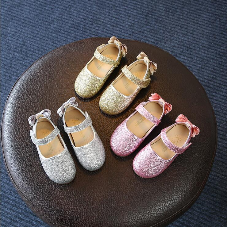 Kids Girls Shoes Spring Autumn Soft Sequins Princess Dance Shoes Girls Sneakers Baby Girls Shoes 1-6 Years Summer Girls Sandals