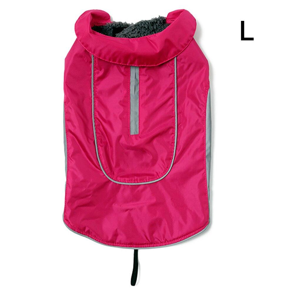 Одежда для питомцев, собачий плащ для кошек, водонепроницаемый светоотражающий ремень, красный плащ для щенка, дождевик для собак, одежда для больших собак, ropa para perro, Прямая поставка - Цвет: 4 rose red L