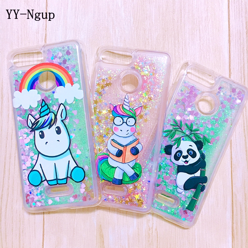 Xiaomi Redmi 6 Pro 6a Case Cover Cute Panda Unicorn Glitter Liquid Quicksand Case On For Funda Xiaomi Redmi 6a 6 Pro Xiomi Case