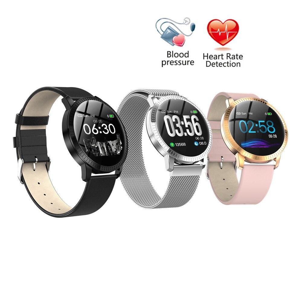 Bande à puce Étanche Pression Artérielle Moniteur Couleur LCD Fitness Tracker Bracelet Sport Femmes Hommes Montre Smart Watch pour IOS Android