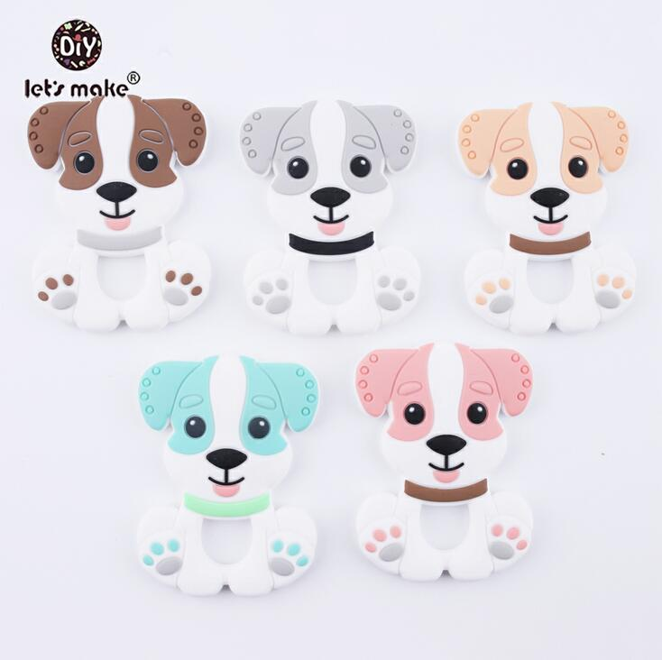 Let's make Ice Cream Silicone Teether 5pcs Baby Nursing Teething Necklace Accessories Baby Bite Jewelry Toddler Teething Toys
