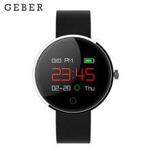 Geber DM78 À Prova D' Água Relógio Inteligente Tela de Toque do Bluetooth Pulseira De Fitness Heart Rate rastreador De Fitness Para Os Homens Wearable Dispositivos