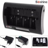 Soshine Evrensel LCD Ekran Pil Şarj 12-18 V DC için Ni-Mh/Ni-Cd/AA/AAA/9 V/D Pil ile AB/ABD Plug opsiyonel