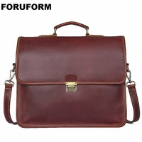 Business Man Bag Theftproof Lock Genuine Leather Briefcase For Man Solid Bank OL Mens Briefcase Bag Dress Man Handbag LI 1793