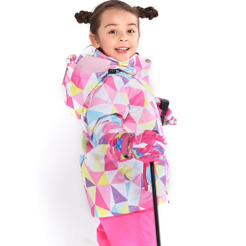 Dernier costume de Ski pour enfants hiver imperméable Super chaud coloré fille et garçon veste de Ski de neige et pantalon neige garçon vestes marques - 4