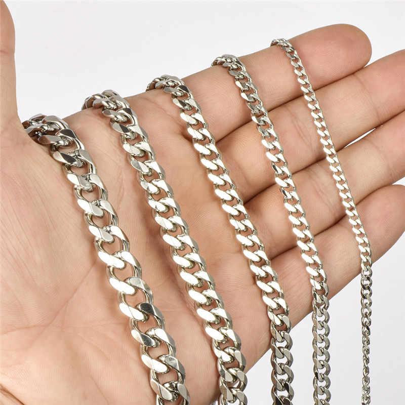 2019 del commercio all'ingrosso in acciaio inox mens del braccialetto regali maschio catena di catena a maglia cubano a portata di mano degli uomini accessori uomo paio di bracciali