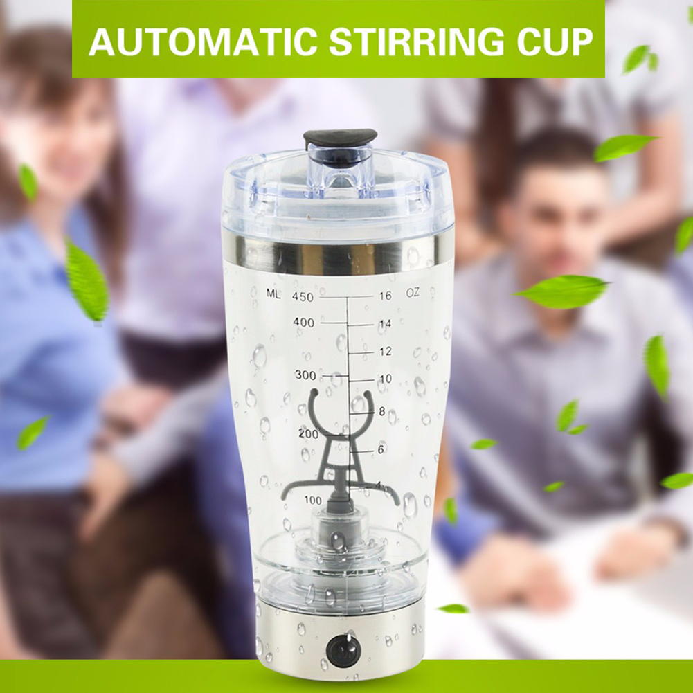 600ML New Electric Protein Shaker Blender Water Bottle Automatic Movement Vortex Tornado 600 ML Free Detachable Smart Mixer Cup 450ml portable vortex electric blender protein shaker smart mixer cup automatic movement intelligent diy drinking