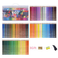 120/160 oil colored pencils set Safe Non toxic wood Artist painting Pastel pencil colors for Drawing Manga Sketch Art Supplies
