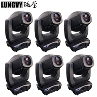 Free Shipping 6pcs/Lot 200W Spot Wash 3in1 Moving Head Light 200 Beam Stage Light 4 Facet Prism