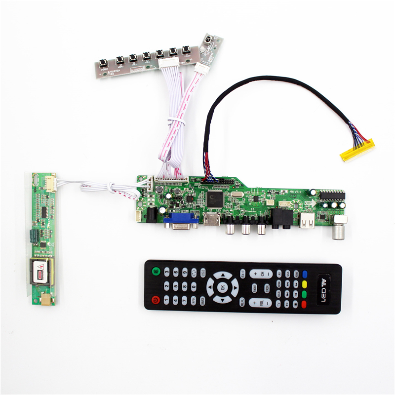 USB HDMI AUDIO LCD TV Controller Board for B154EW01 B154EW02 B154EW03 B154EW04 B154EW08 1280x800 CCFL LVDS TFT LCD t v56 03 vga hdmi av audio usb tv lcd controller board for b154pw01 b154pw02 1440x900 ccfl lvds lcd ad board raspberry pi