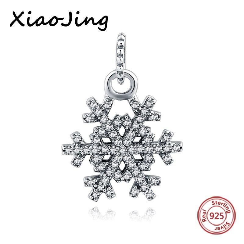 2017 new arrivals snowflake dangle beads diy craft pandora charms fit original bracelet pendant beads for jewelry making kids