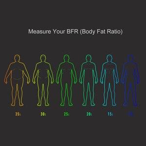 Image 4 - شاومي الذكية الوزن مقياس النسخة الأصلية الإنسان BFR الجسم نسبة الدهون قياس مقياس ميزان APP التحكم عن بعد شاشة led