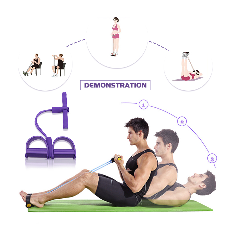 Camping & Outdoor Yoga Resistance Band Tube Stretch Body Fitness Muscle Workout Exercise JU