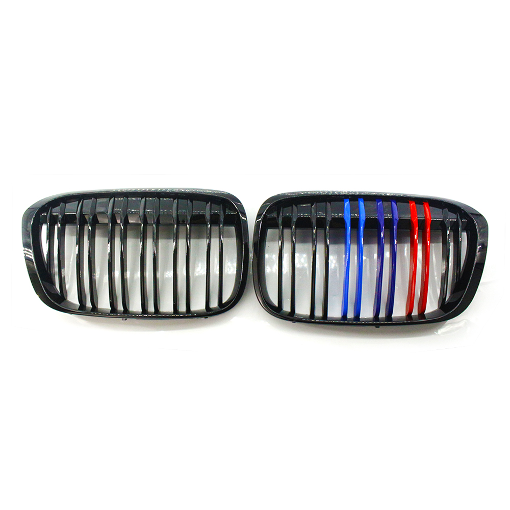 M Style For BMW X1 F48 F49 Bright Black 2016-2018 Front GrilleM Style For BMW X1 F48 F49 Bright Black 2016-2018 Front Grille