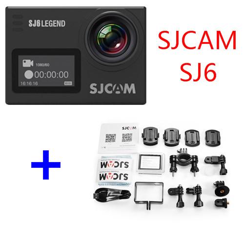 """Prix pour D'origine sjcam sj6 légende 4 k 24fps ultra hd notavek 96660 action étanche caméra 2.0 """"écran tactile à distance sport dv"""