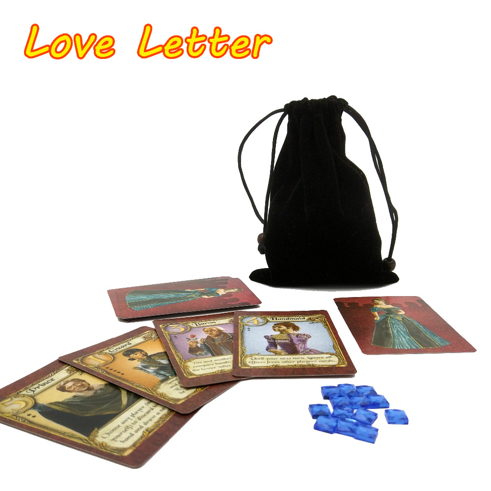 2020 English Love Letter Board Game Best Quality 2 To 4 Player Playing Cards Game